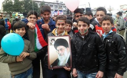 حضور مردم رشت درجشن ۲۲ بهمن